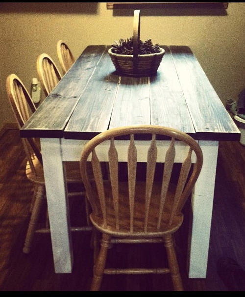 Primitive Kitchen Table And Chairs: Unique Primtiques Primitive Distressed Dark Walnut Stained