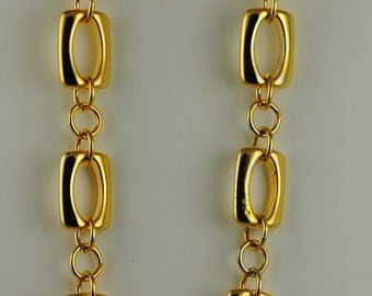 Trifari Vintage Necklace Heavy Gold Plated Chain Gold Toned