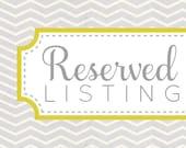 Reserved listing for Kalyn