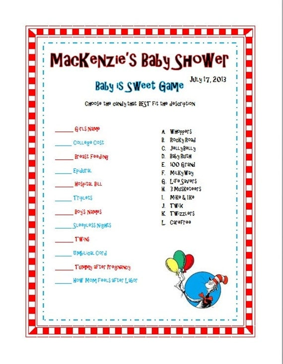 dr seuss baby shower sprinkle party games 8x11 printable