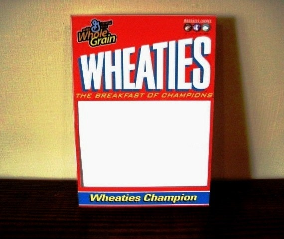 Wheaties Cereal Box Cover Picture Frame By Pictureframeme