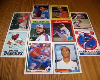 50 Montreal Expos Baseball Cards