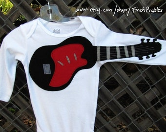 "Baby clothes Awesome  ""Electric Guitar""  baby guitar bodysuit baby clothes"