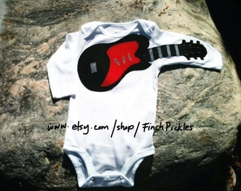 "Baby clothes Amazing ""Electric Guitar"" baby guitar bodysuit"