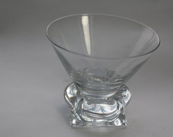 1930s Footed Short Martini Glasses - Czech - Set of Three