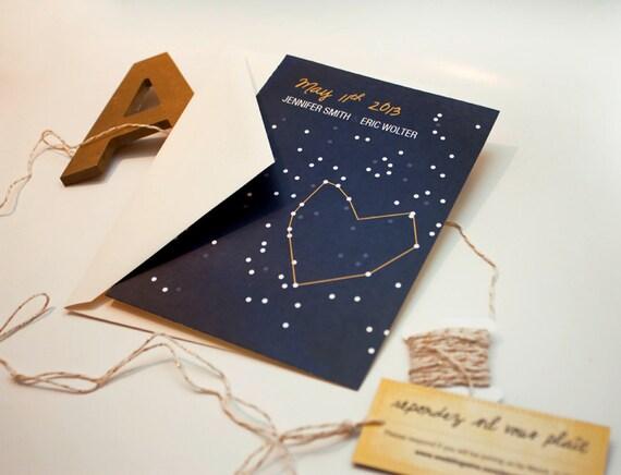 Star Wedding Invitations: DIY Wedding Invitation Night Sky Wedding Invitation Star