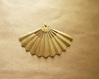 Vintage Brass Asian Fan
