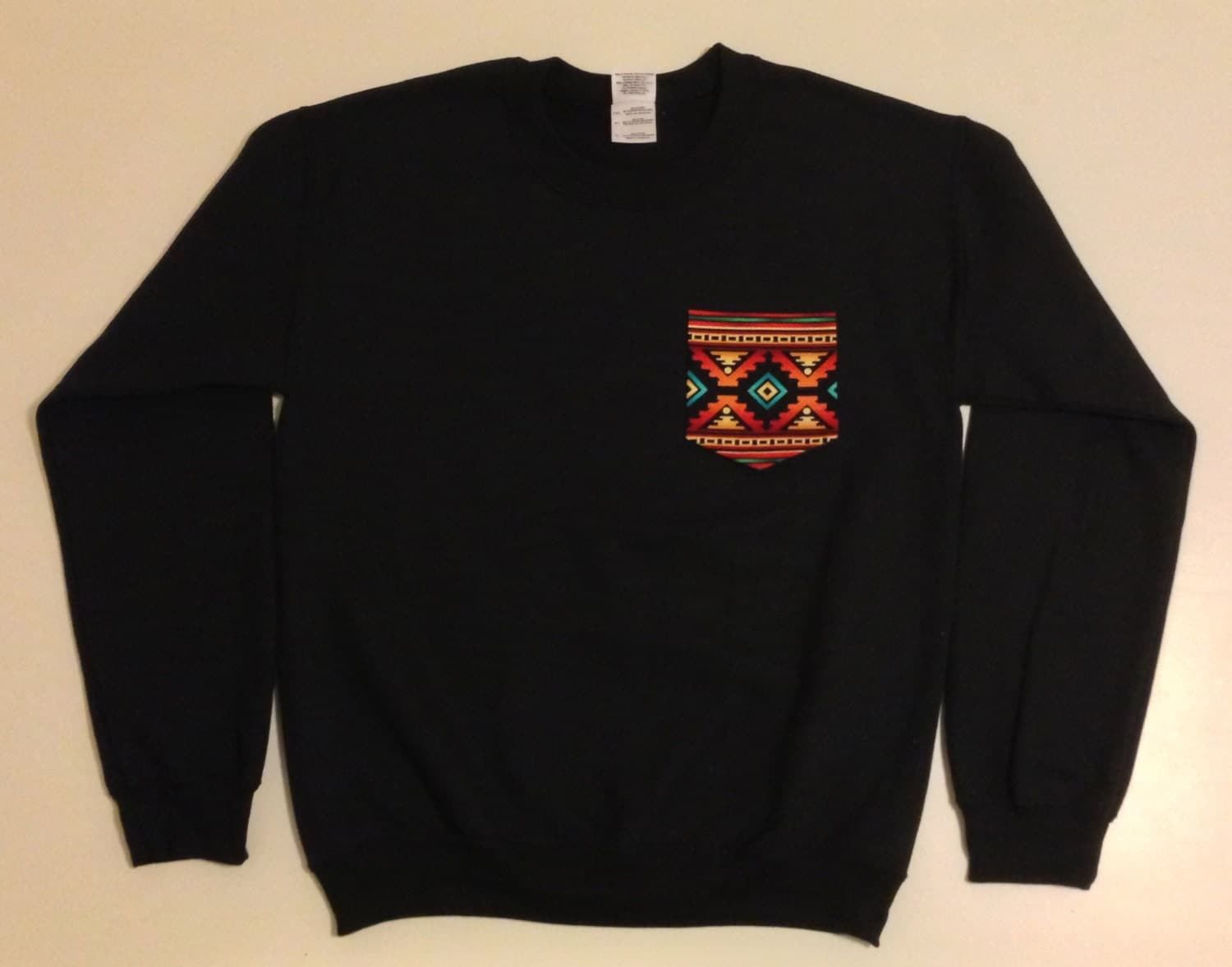 Unisex Custom Patch Pocket Crew Neck Sweatshirt