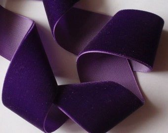 3 yards 1.5 inches Velvet Ribbon in Purple RY15-089