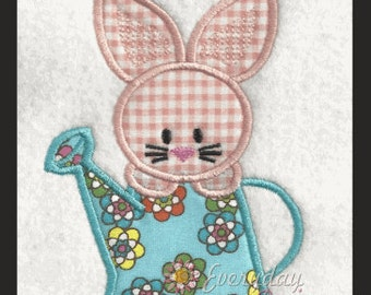 Spring Bunny 2 Easter Machine Embroidery Applique' Design