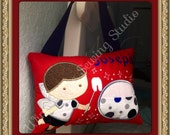 Large Tooth Fairy Pillow boy or girl 10x7