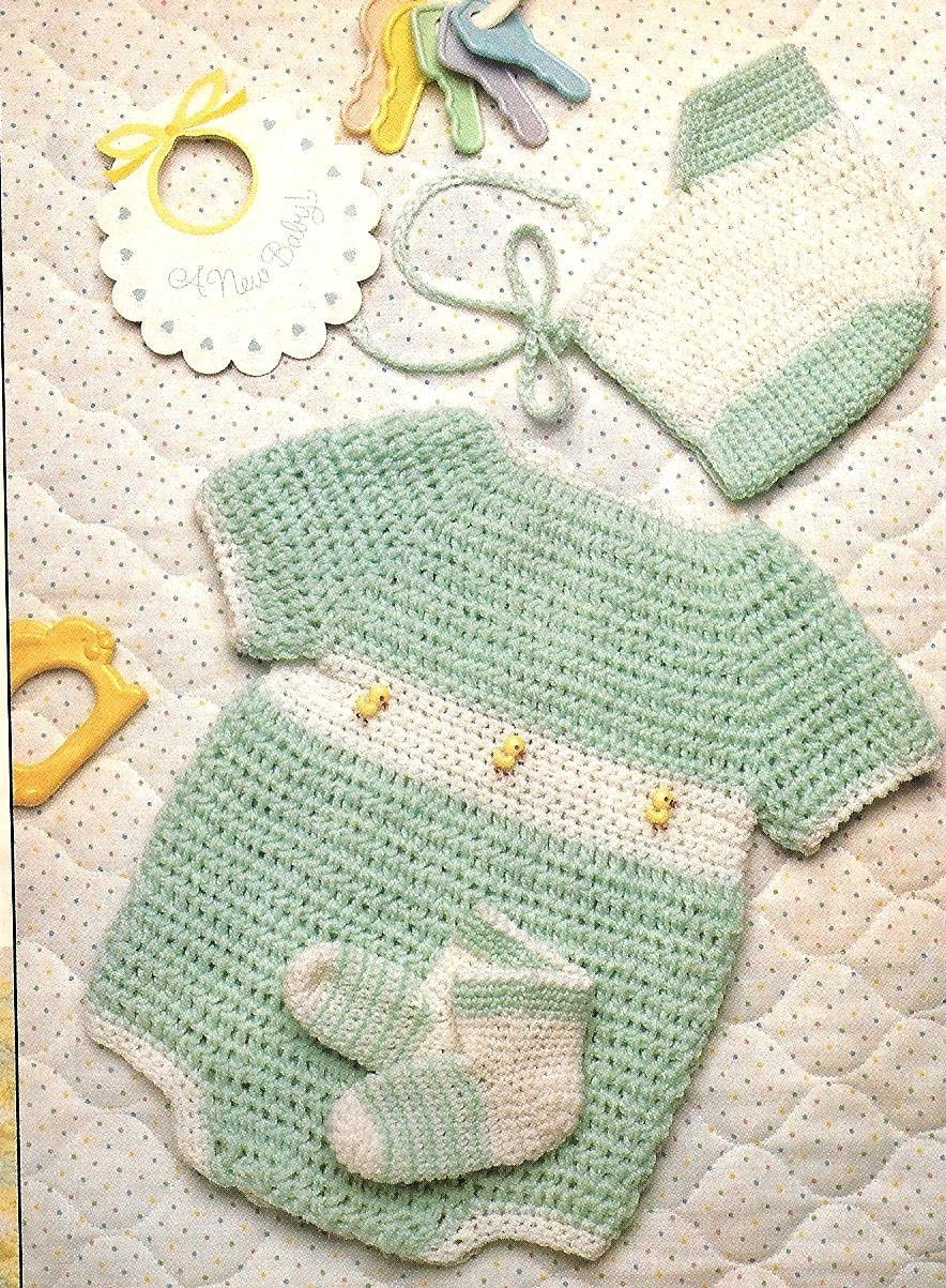 Easy Crochet Pattern Baby Boy S Just Ducky