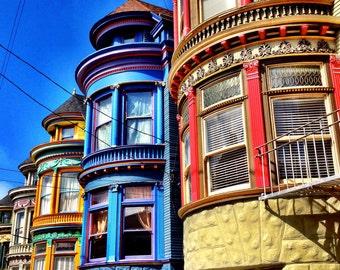 San Francisco Photography - Classic Victorians - Haight Ashbury - San Francisco, CA - 8x10 Fine Art Photograph - Wall Art