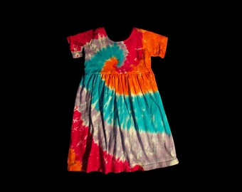 Girls Tie-Dye Dress- Youth Small