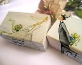 Personalized White Wedding Ring bearer box Wooden box Gift box Wedding decor gift idea