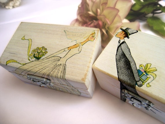 Wedding Ring bearer box Wooden box Gift box Wedding decor gift idea ...