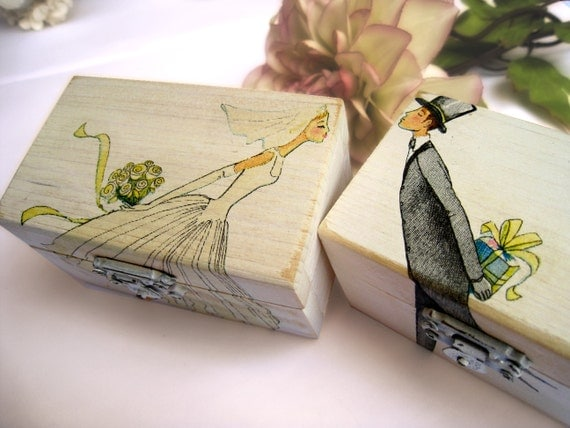 Wedding Ring Gift Box : Wedding Ring bearer box Wooden box Gift box Wedding decor gift idea ...
