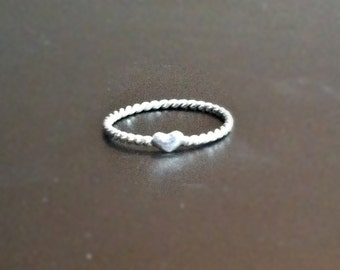 Sterling Silver Love Ring - Heart - Valentine