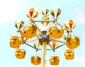 Carnival Balloon Ride - carnival photograph - Coney Island - Nursery Art Decor