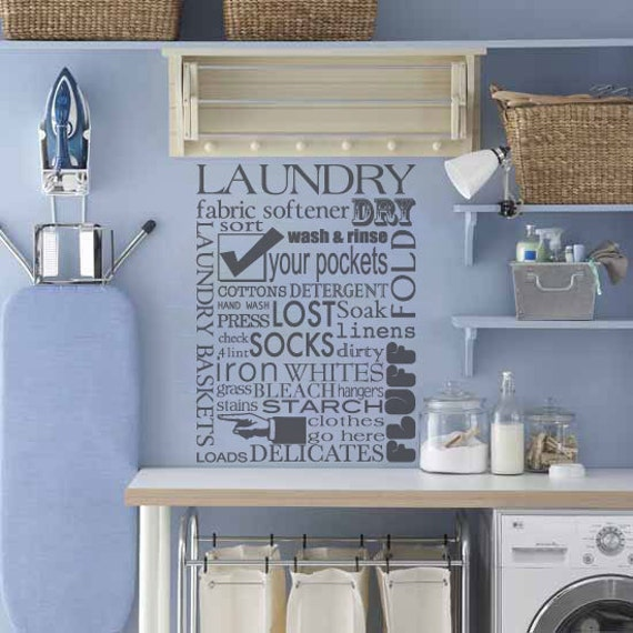 laundry room decal subway art decal laundry room wall