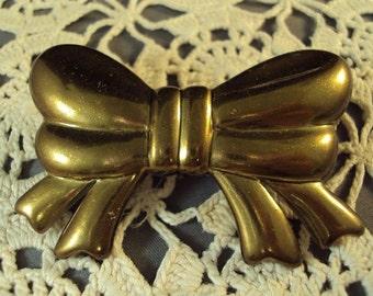 Gold Bow Hair Barrette