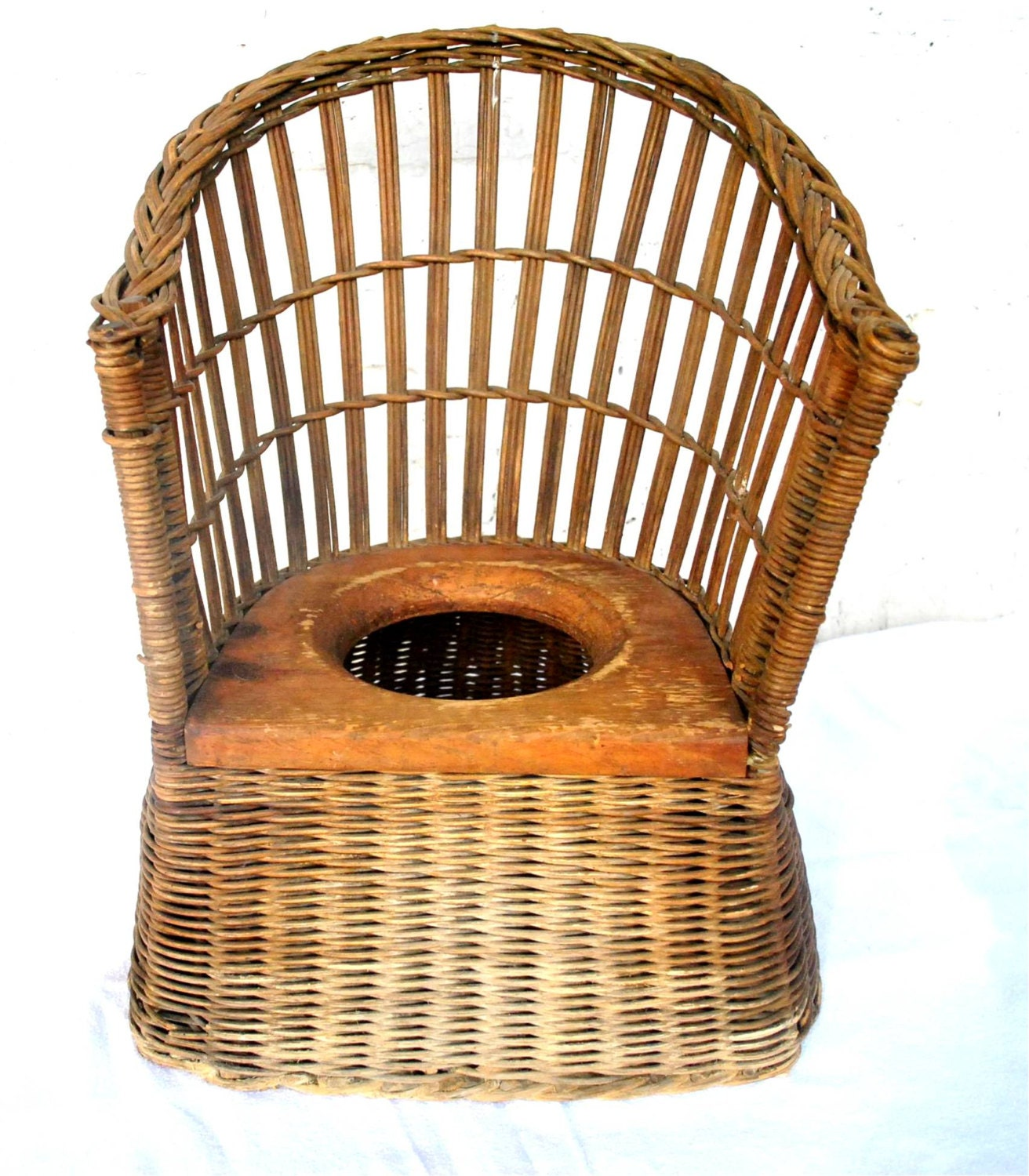 Antique potty chair value -  Sale Vintage Heywood Wakefield Rare Victorian Childs Wicker Potty Chair Zoom