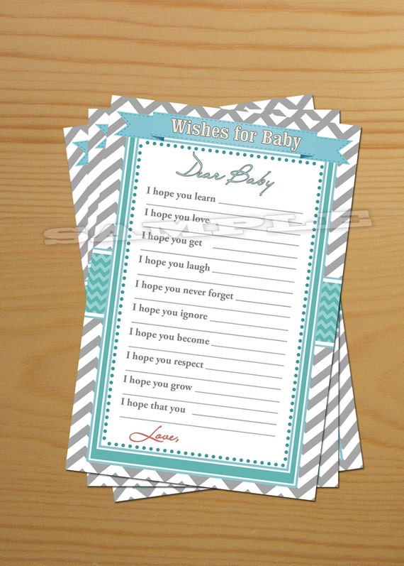 baby well wishes for baby shower printable teal tiffany 76
