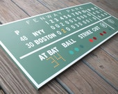 Painted Fenway Green Monster Scoreboard Boston Red Sox - 406Concepts