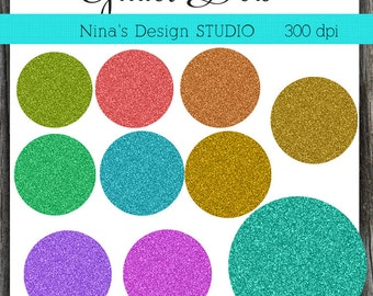 INSTANT DOWLOAD   Glitter dots Clipart Scrapbook for Personal and Commercial Use