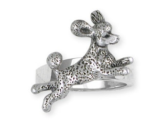 Solid Leaping Poodle Ring Jewelry PD60-R