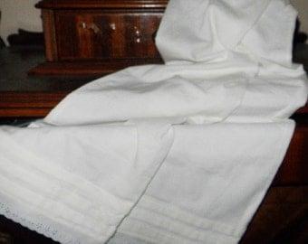 Girls 1800's White Muslin Pantaloons Size 6-12