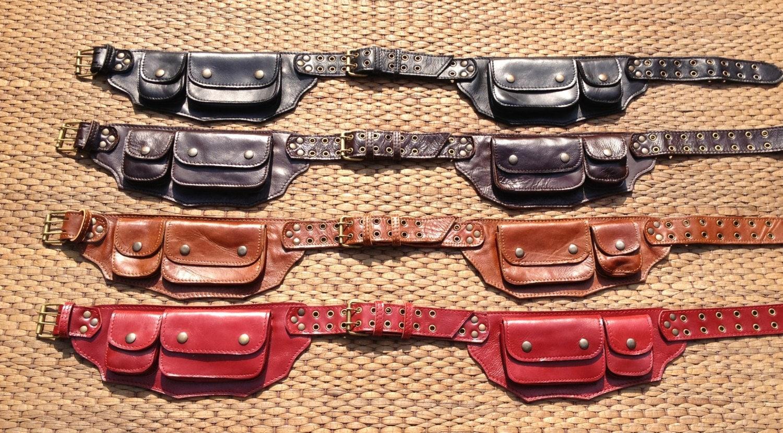 festival utility belt leather belt bag pack pocket
