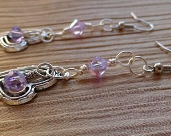 Toggle Crystal Earrings - Royal Elegance