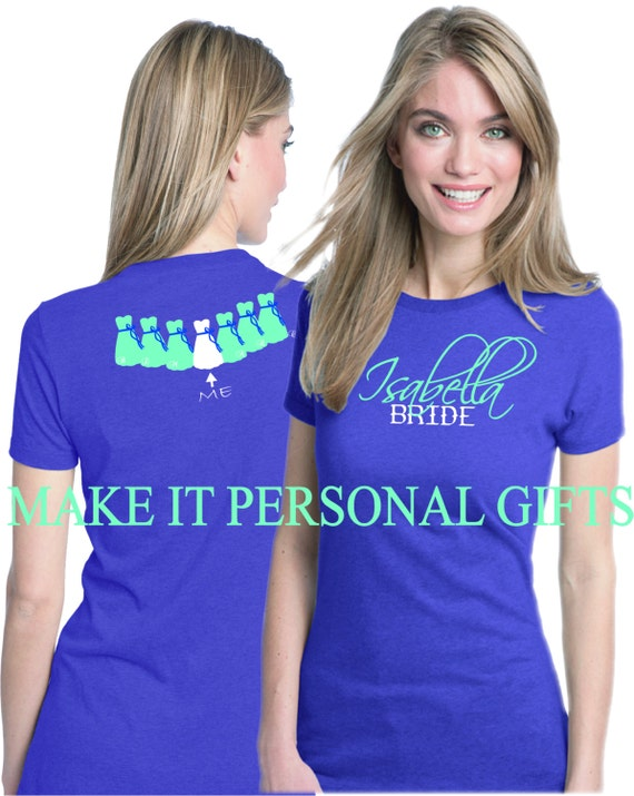 Items Similar To 5 Personalized Bachelorette Party T