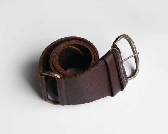 wide brown leather belt womens leather belt brown by plot