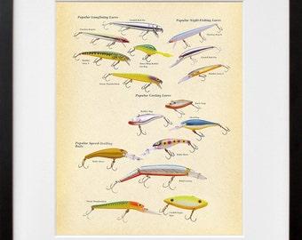 Popular Fishing Lures - Colorful - Speed Trolling - Casting - Longlining - Art Print