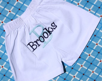 Monogrammed Infant Diaper Cover Boxer - Newborn - Bloomer - Baby Boy