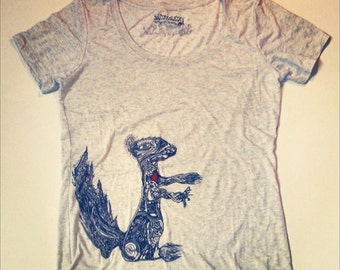 CHRISTMAS Squirrel's Heart Vintage Tshirt-Women's Enter code ACORN at checkout for 10% off