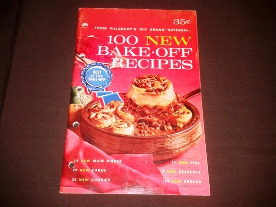 vintage 1964 pillsbury 100 new bake off recipes by junqfusion. Black Bedroom Furniture Sets. Home Design Ideas