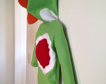Nintendo Mario Bros. inspired Yoshi fleece hoodie shirt
