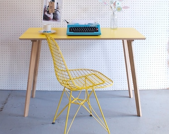 Perky Formica Table / Desk in Yellow