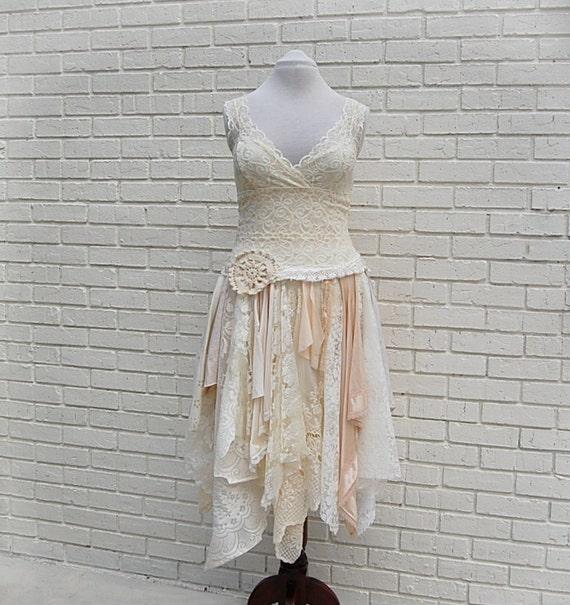 Alternative wedding dress party dress boho fairy woodland for Woodland fairy wedding dress