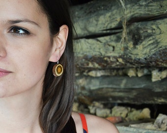 Wooden earrings- every day, simple, unique eco friendly earrings