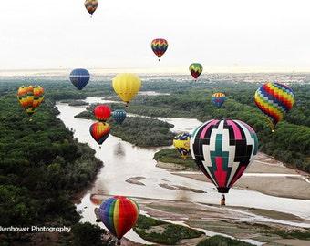 Hot air balloon photography, photos, Pajarita, Rio Grande, balloon fiesta, Albuquerque, New Mexico, water, river, Val Isenhower