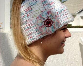 Knit Hat Pattern Ponytail Hole : Popular items for ponytail hats on Etsy