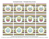 PRINTABLE Owl Party Circles
