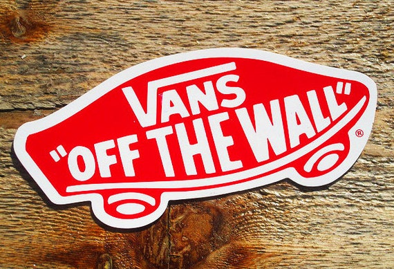 vintage 80s vans off the wall lg 5 skateboard sticker. Black Bedroom Furniture Sets. Home Design Ideas