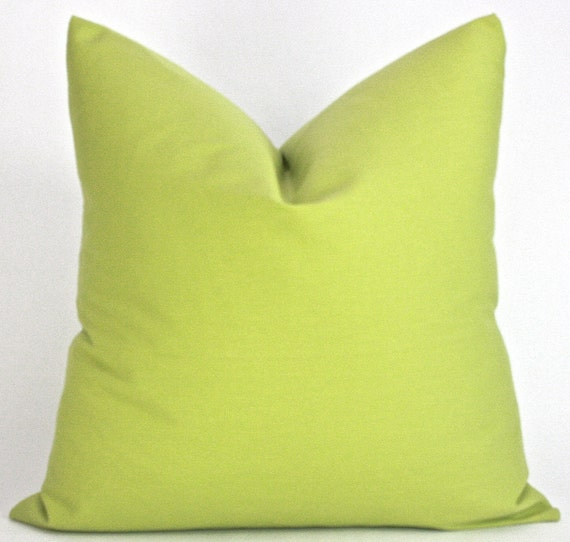 Throw Pillows Linen : Lime Green/ Green Apple Decorative Throw Pillow Cover 20 x 20
