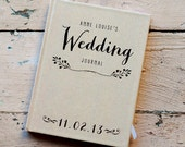 Wedding Journal, Notebook, Wedding Planner - Personalized, custom wedding book gift for bride rustic wedding bridal shower guest book kraft