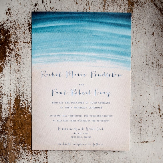 like this item - Beach Wedding Invitations